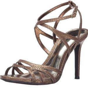 Ralph Lauren Tallula Antique Gold Leather Heels